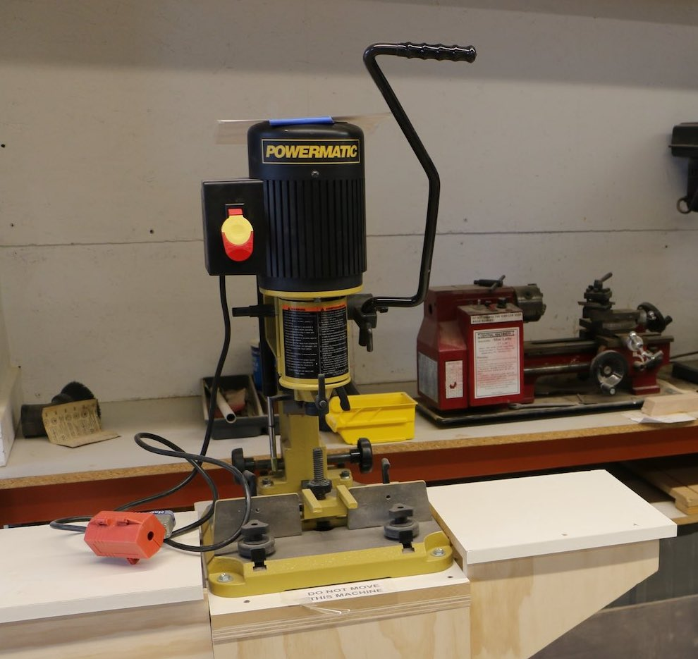 Mortiser at a makerspace